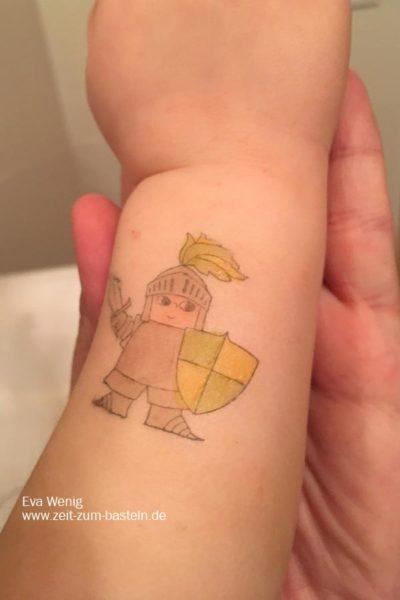 Selbst gestempelte Tattoos für Kinder - Zauberhafter Tag - Stampin Up - www.zeit-zum-basteln.de