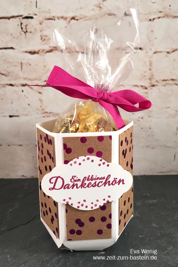Tasse mit dem Envelope Punch Board und Metallic Glanz Papier als Dankeschön - Stampin Up - www.zeit-zum-basteln.de