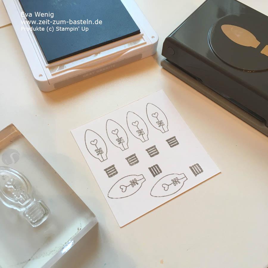 Stempeltrick: passend zur Handstanze stempeln (Stampin Up) - www.zeit-zum-basteln.de
