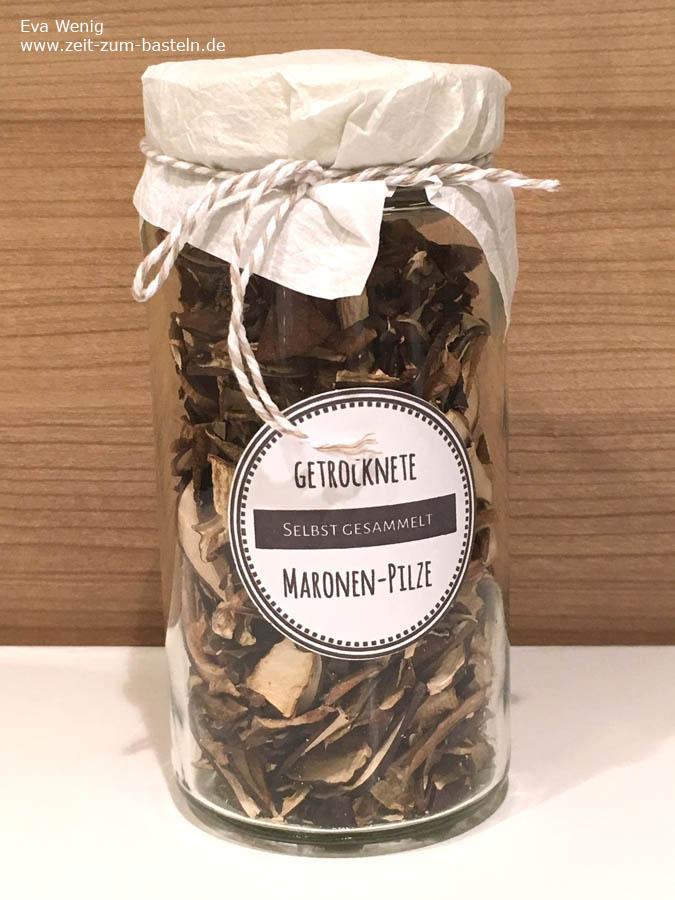 Getrocknete Pilze - Freebie Etiketten - www.zeit-zum-basteln.de