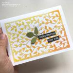 Videotutorial: Schablonentechnik mit filigranem Designerpapier