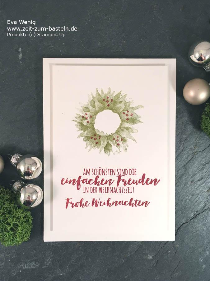 Weihnachtskarte mit Herbstanfang & Tannenzauber (Stampin up) - www.zeit-zum-basteln.de