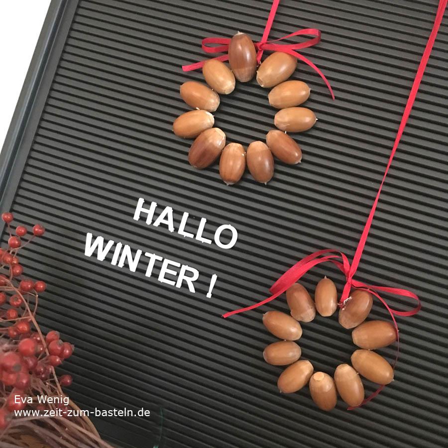 Basteln mit Eicheln für Kinder und Mamas - Anhänger für Weihnachtbäume - www.zeit-zum-basteln.de
