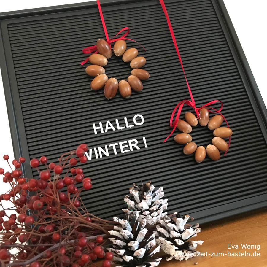 Basteln mit Eicheln für Kinder und Mamas - Anhänger für Weihnachtsbäume - www.zeit-zum-basteln.de