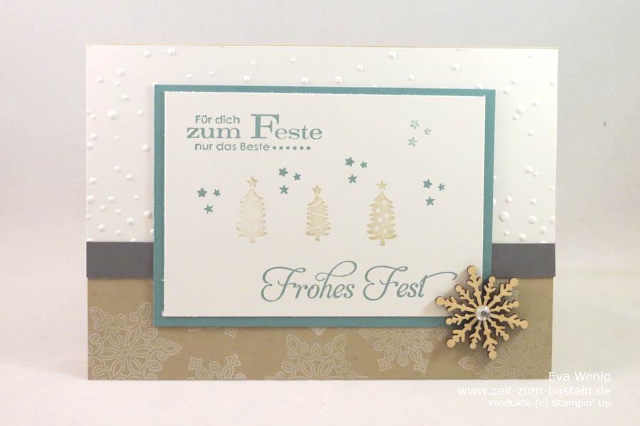 Weihnachtskarte 'Zum Feste nur das Beste' (Stampin Up) - www.zeit-zum-basteln.de
