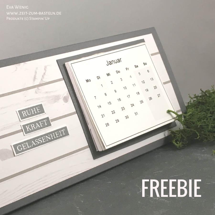 Freebie Kalender Für 2019 Zeit Zum Basteln