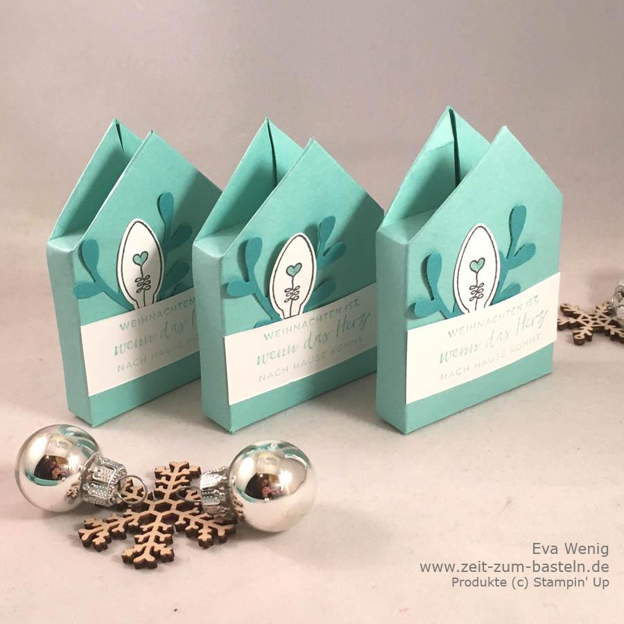 Mini-Häuserschachteln genau passend für Mini-Rittersport - hier findest Du die Maße - Stampin Up - www.zeit-zum-basteln.de