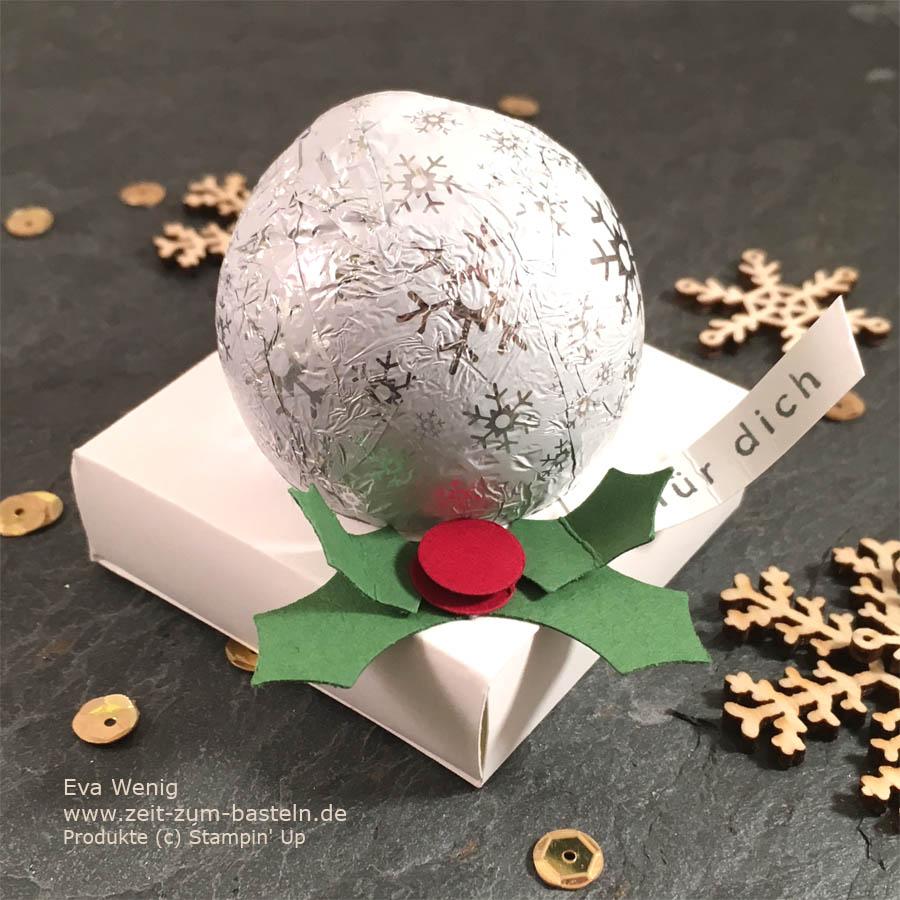 Milka Snowballs als weihnachtliche Tischgeschenke - Stampin Up  - www.zeit-zum-basteln.de