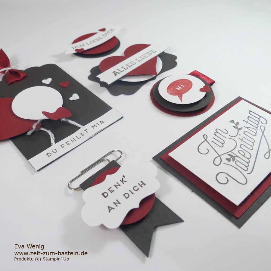 Card Candy zum Valentinstag - prima zum Verbasteln von Resten - Stampin Up - www.zeit-zum-basteln.de
