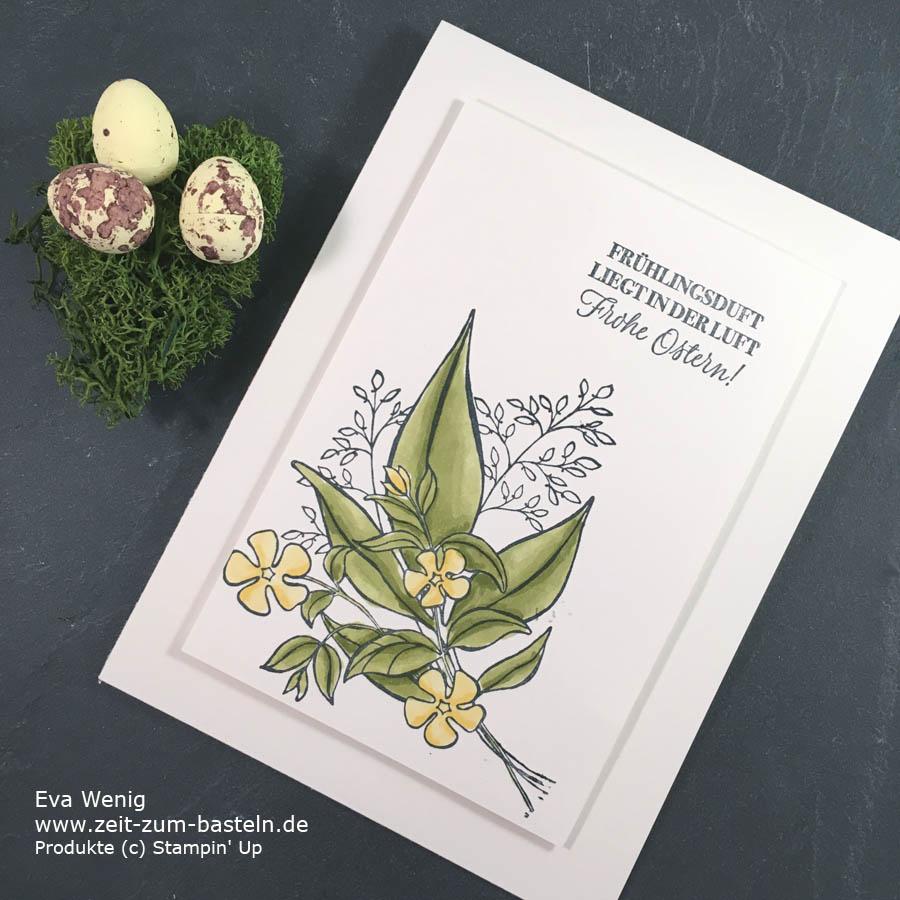 Clean & Simple ist das Motto - meine Osterkarte mit 'Grund zum Lächeln' von Stampin Up - www.zeit-zum-basteln.de