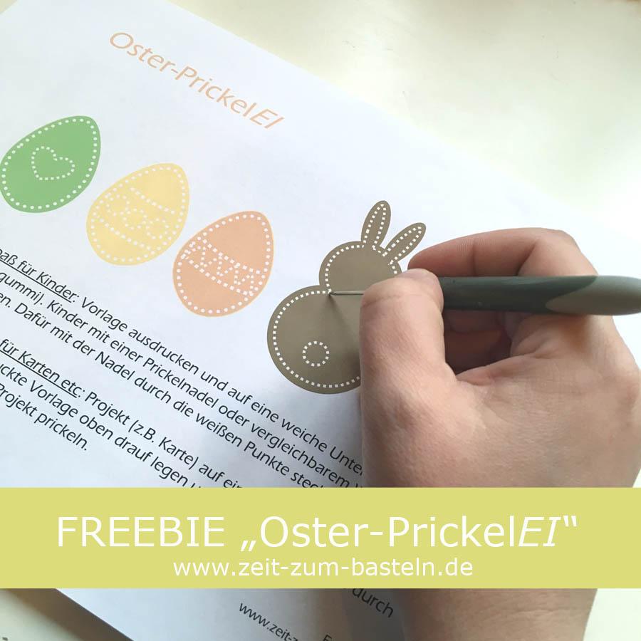 """Freebie """"OsterpreickelEI"""" - Druck Dir die Vorlage aus und lass Deine Kinder prickeln oder nutze sie für die Gestaltung Deiner Osterkarten - www.zeit-zum-basteln.de"""