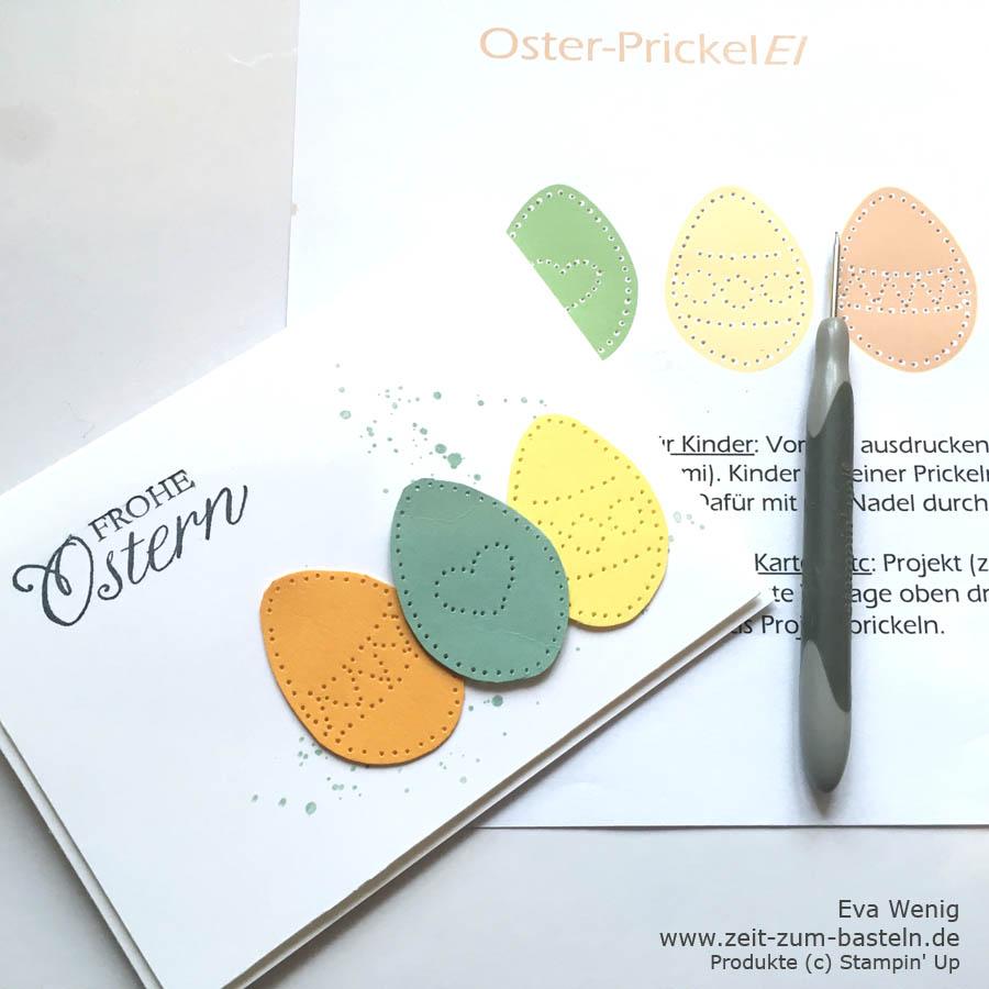 """Freebie """"OsterpreickelEI"""" - Eine süße Vorlage für Deine geprickelten Osterkarten - www.zeit-zum-basteln.de"""