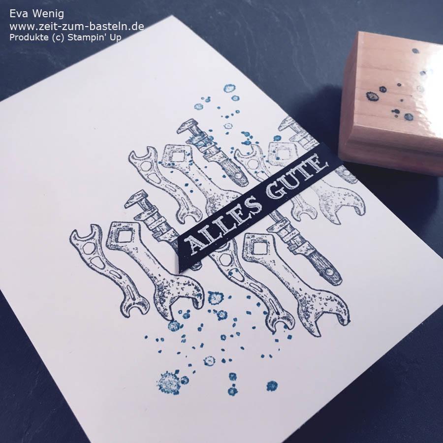 Schnelle, schlichte Männerkarte für Handwerker - Stampin Up - Für ganze Kerle - www.zeit-zum-basteln.de