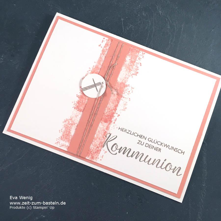 Ein Set an Kommunionskarten, inspiriert von Bastelglanz - Stampin Up  - www.zeit-zum-basteln.de