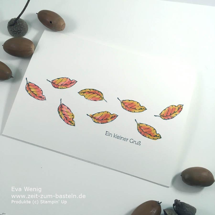 Herbstliche Karte mit 'Magnoliengruß' von Stampin Up - www.zeit-zum-basteln.de
