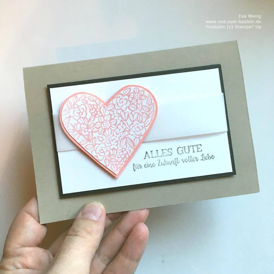 Hochzeitskarte mit Stampin Up