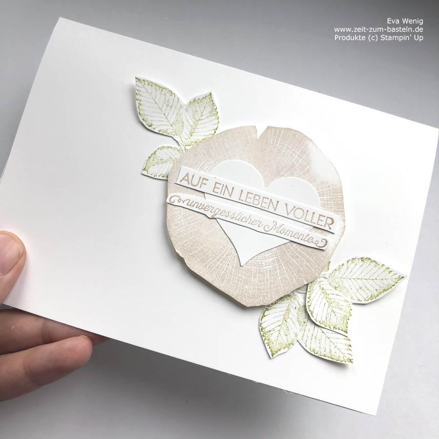 """Hochzeitskarte """"Unvergessliche Momenten"""" von Stampin Up"""