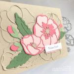 Mohnblüten wie geprägt