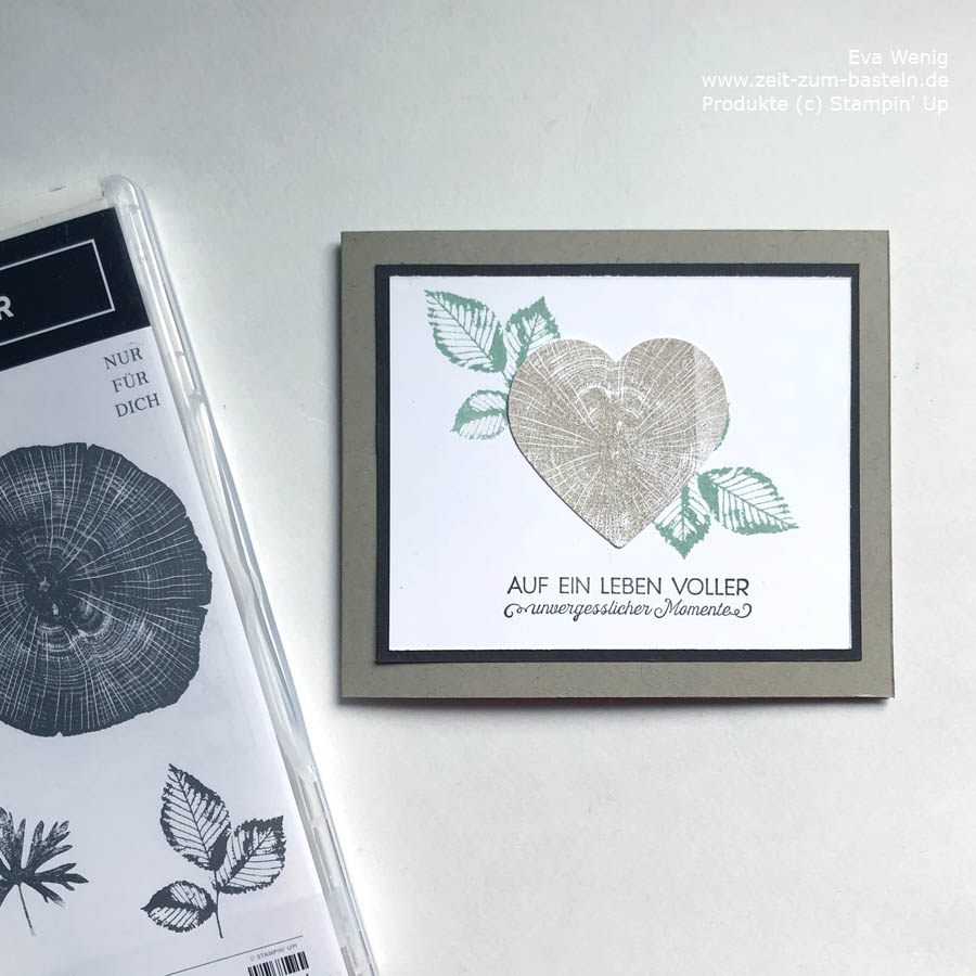 Hochzeitskarte mit Kraft der Natur