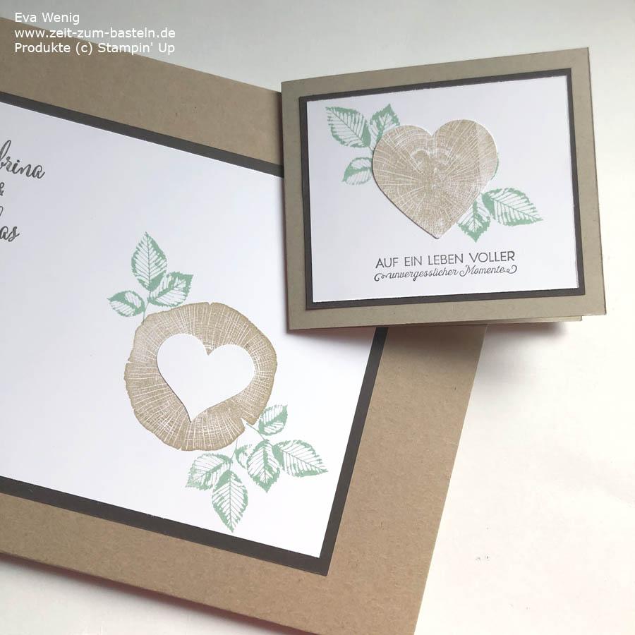 Hochzeitsalbum und Hochzeitskarte mit Kraft der Natur von Stampin Up