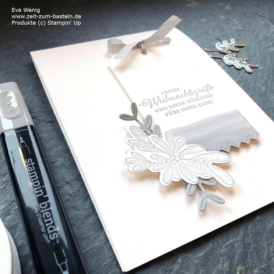 Weihnachtskarte mit Weihnachtspost von Stampin Up