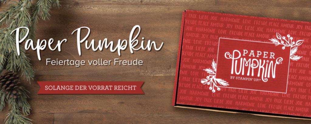 Paper Pumpkin - Feiertage voller Freude