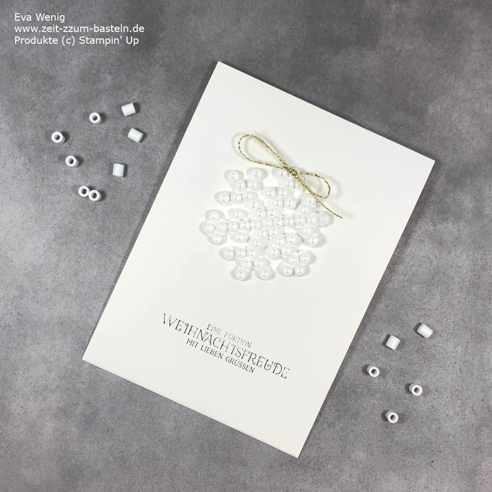 Weihnachtskarten mit Bügelperlen