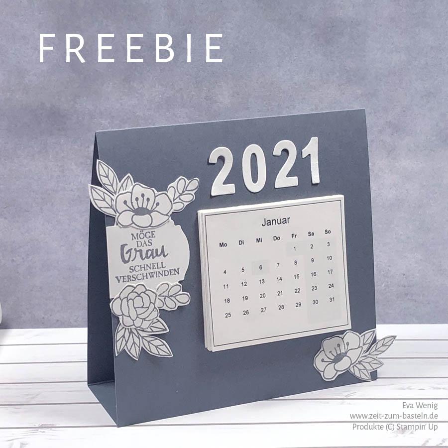 Freebie Mini-Kalender, Kalendervorlage für 2021