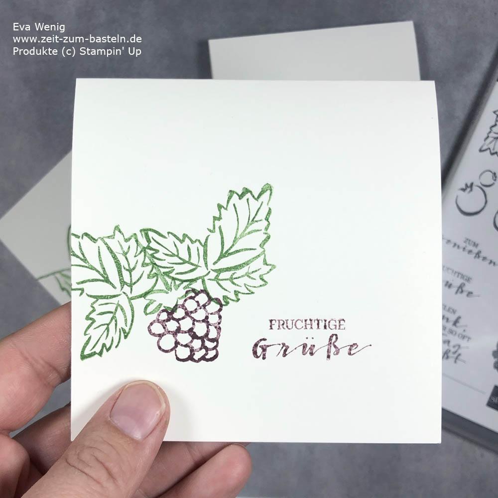 Schnelle beerige Grüße mit Stampin Up Fruchtige Grüße