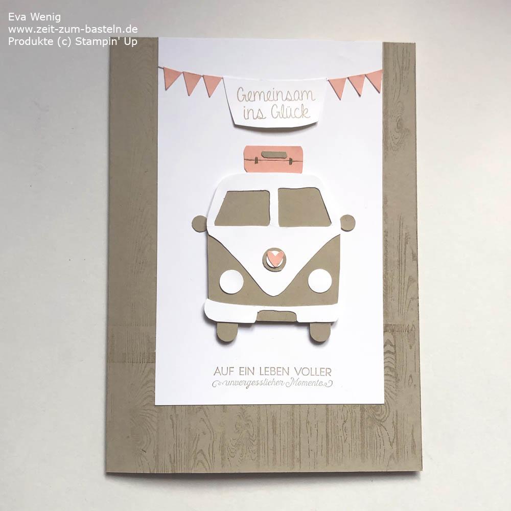 Hochzeitskarte mit Camper