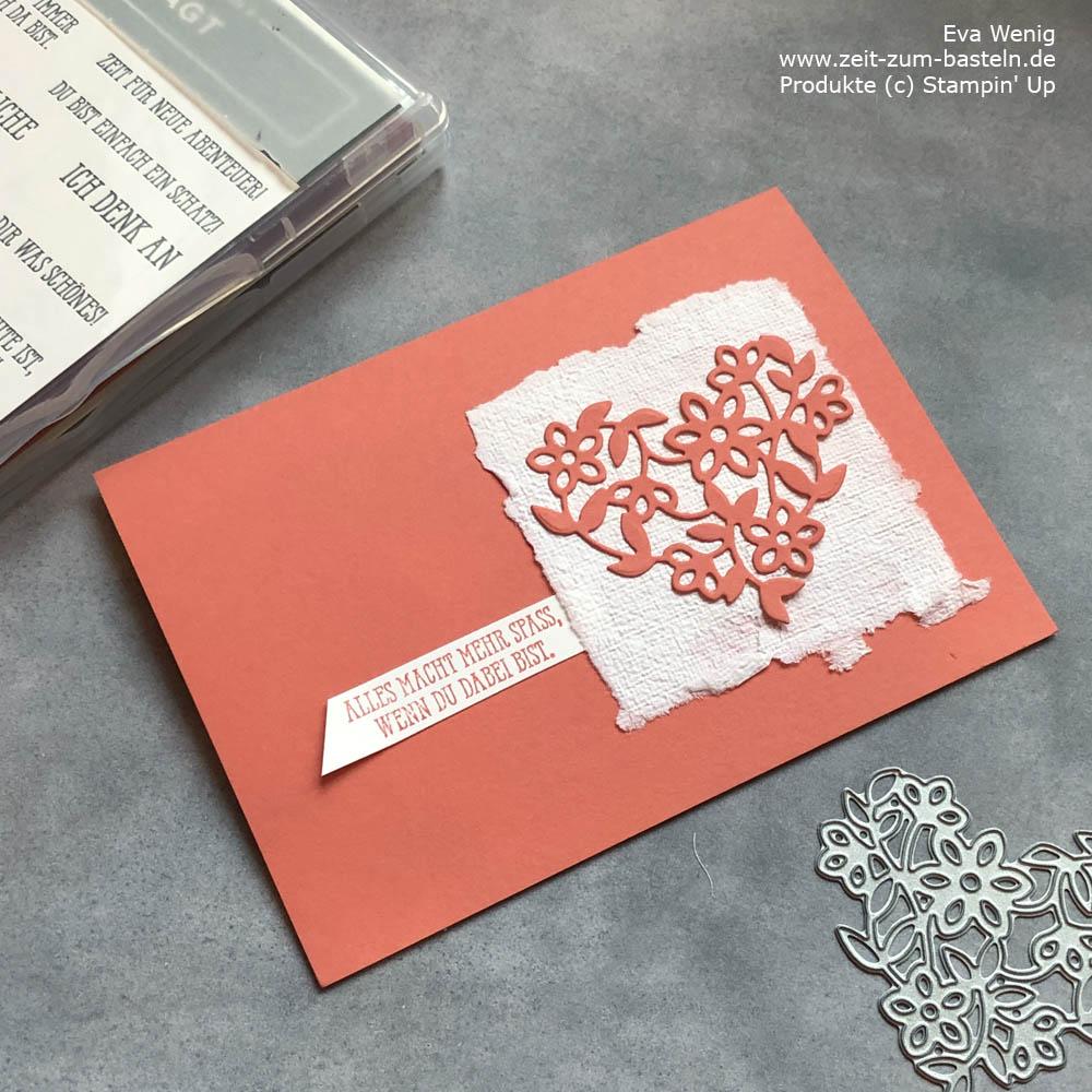 Stampin Up Karte mit handgeschöpften Papier
