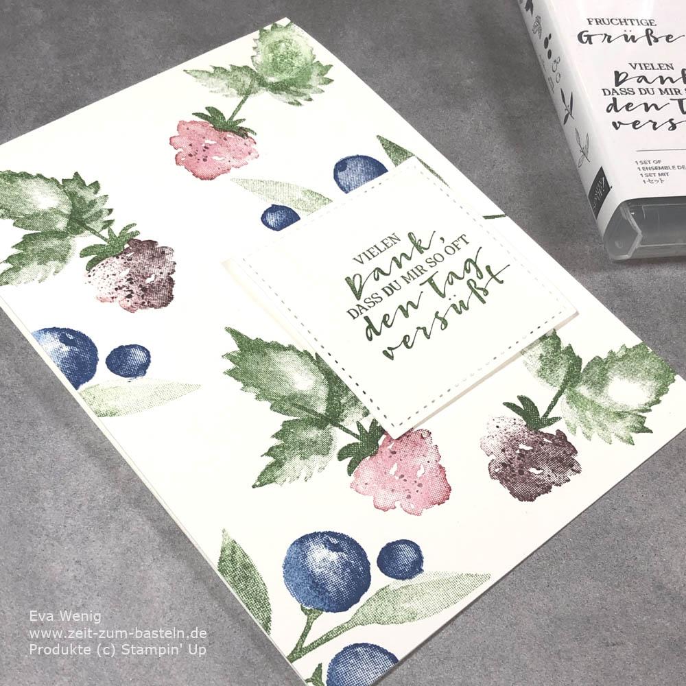 Fruchtige Karte mit Fruchtige Grüße von Stampin Up