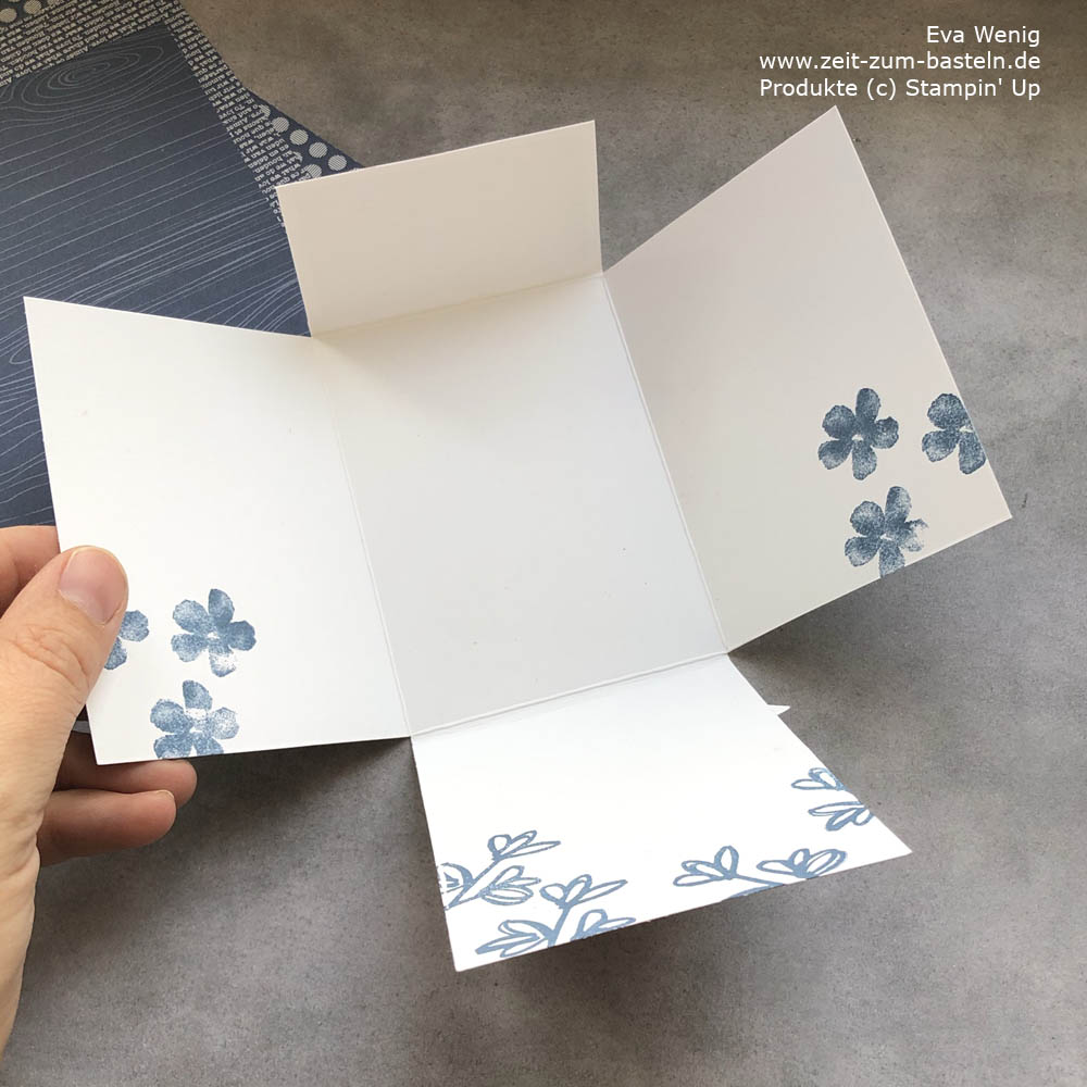 Fun Fold Card mit verstecktem Magnetverschluss  (Stampni Up)