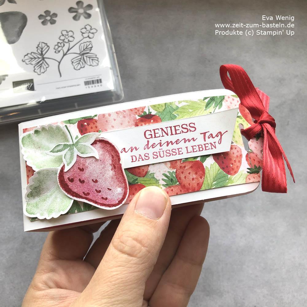Yogurette-Box mit Stampin Up Beerenstark