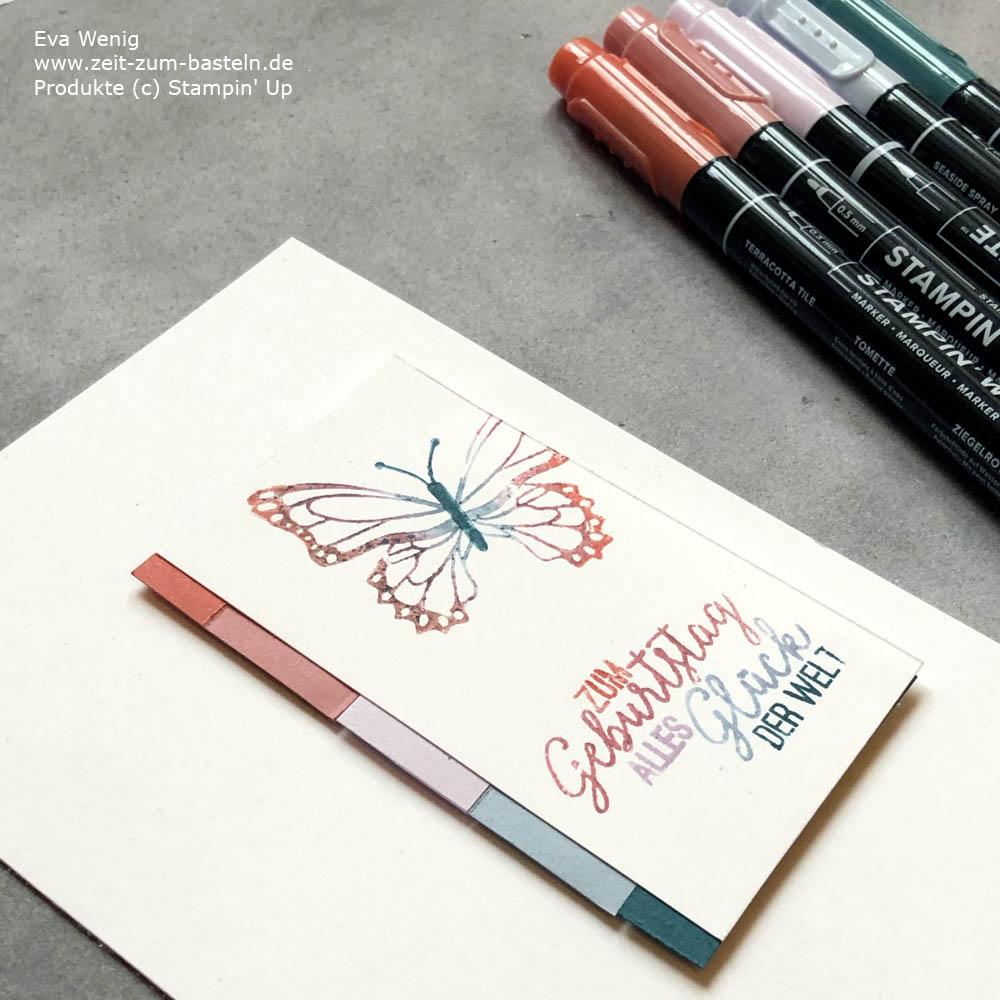 bye bye InColors 2019-2021 Technik mit Stampin Markern