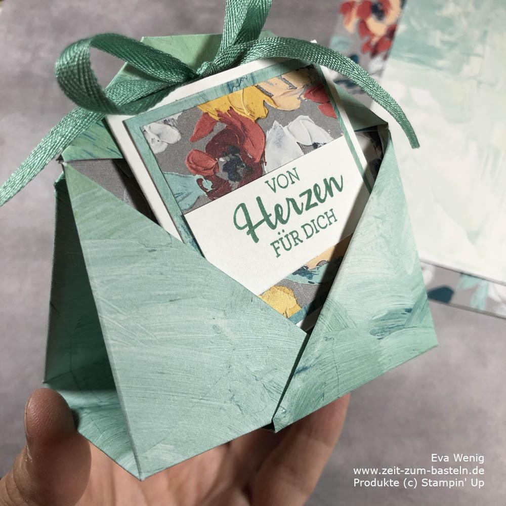 Teabag-Fold mit Karte (Stampin Up)