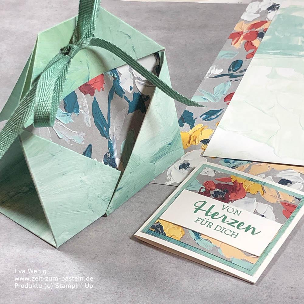 Teabag-Fold mit Karte (Stampin Up) - mein April-Dankeschön