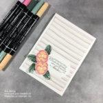 Eigenes Designerpapier mit Stampin Write Markern