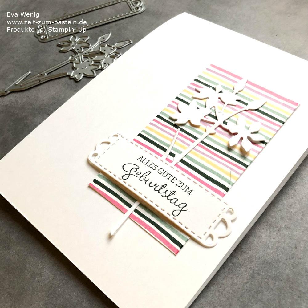 Eignes Designerpapier mit Stampin Write Markern im Video