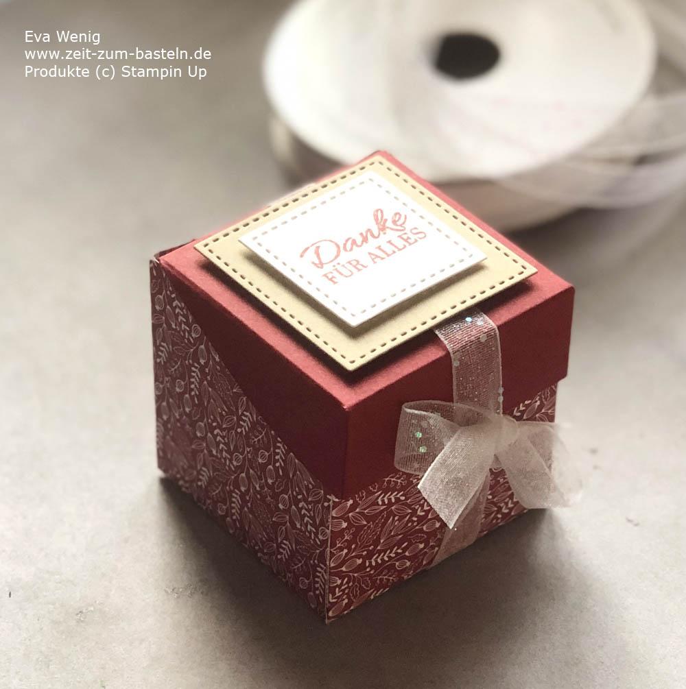 Mini-Box Anleitung als August-Dankeschön